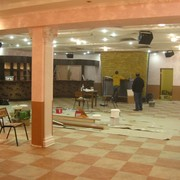 Укладка ПВХ плитки в ресторане Бакинский Двор