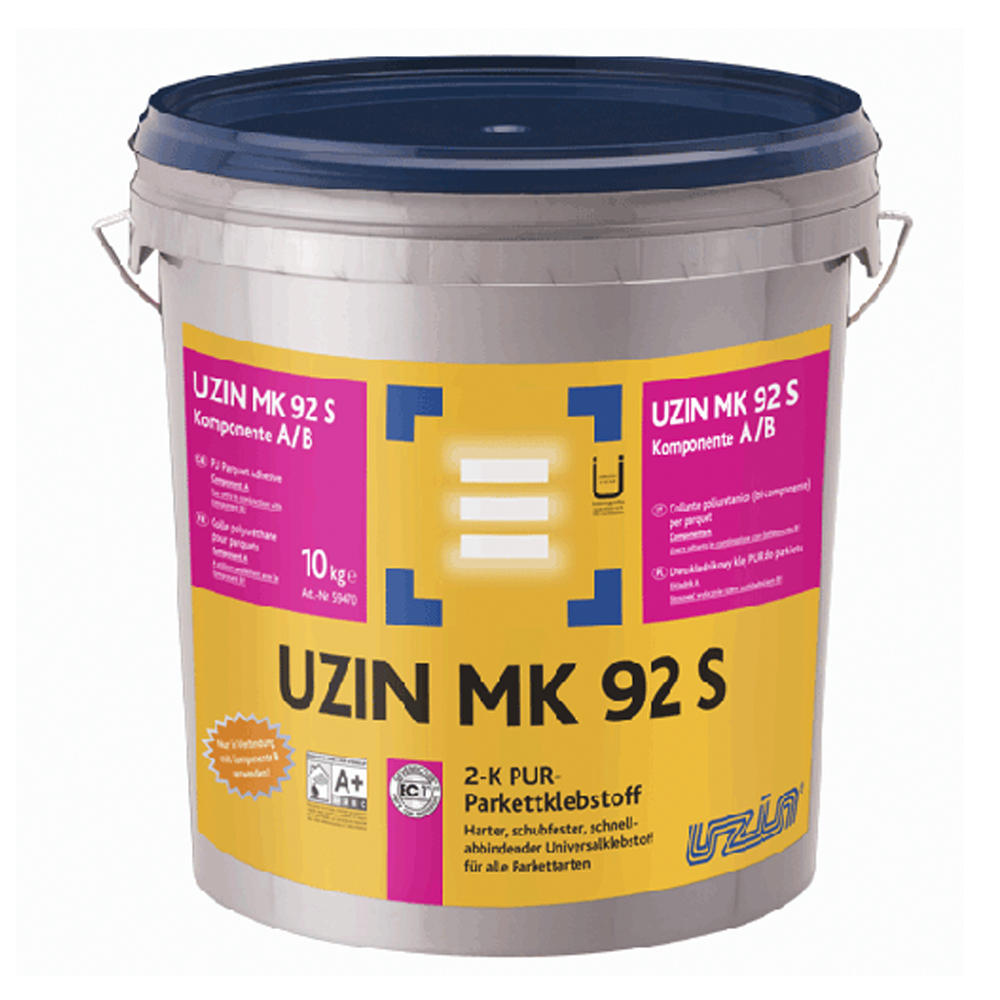 Uzin MK 92 S Полиуретановый 2-К клей для паркета