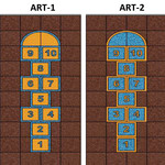 Фото Дизайнерская резиновая плитка Укрплит-Арт Цвет-4