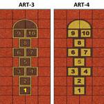 Фото Дизайнерская резиновая плитка Укрплит-Арт Цвет-5