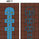 Фото Дизайнерская резиновая плитка Укрплит-Арт Цвет-7