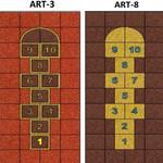 Фото Дизайнерская резиновая плитка Укрплит-Арт Цвет-8