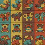 Фото Дизайнерская резиновая плитка Укрплит-Арт Цвет-9