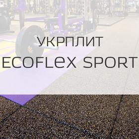 Резиновые покрытия для детских и спортивных площадок Резиновые покрытия для спортивных площадок Ecoflex sport Укрплит